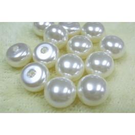 Perlas de botón 11.00mm de agua dulce (32 uds)